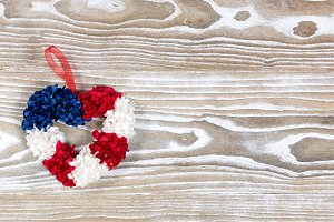Heart Wreath for July Fourth