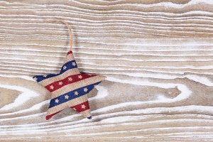 Fourth of July Star on wood