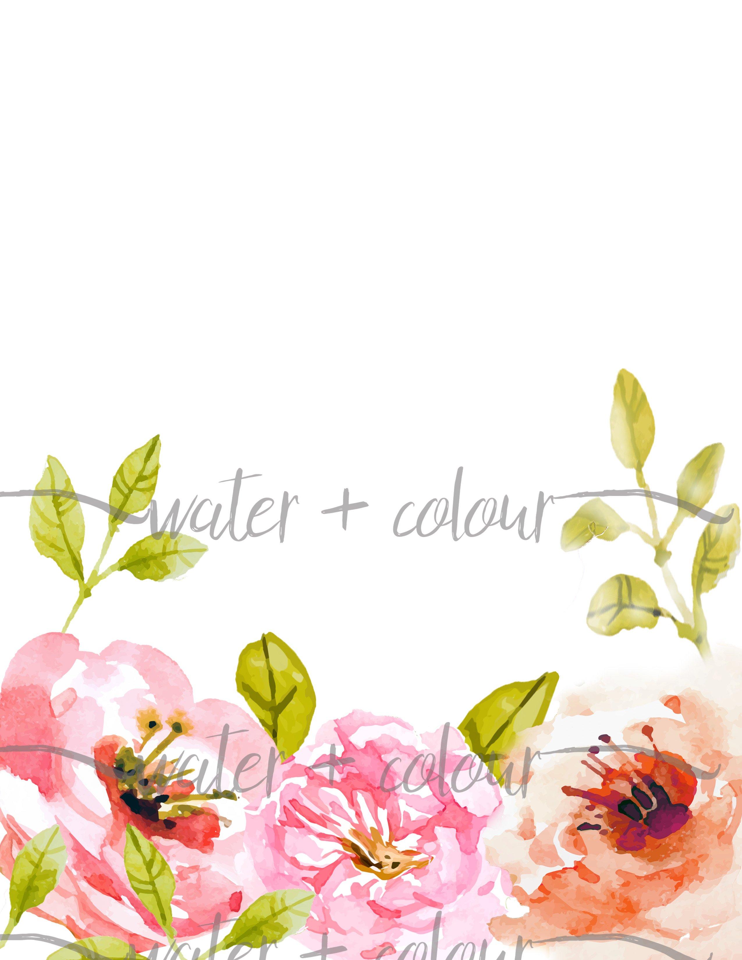 floral bottom border  illustrations  creative market