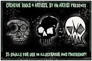 35 Vector Skull Icons