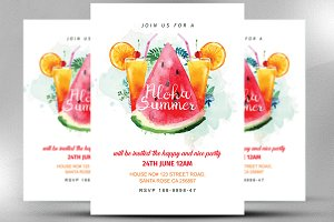 Aloha Summer Invitation