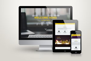 Home - HTML Responsive One Page