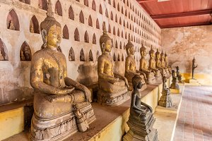 Ancient Buddha in wat Sisaket Laos