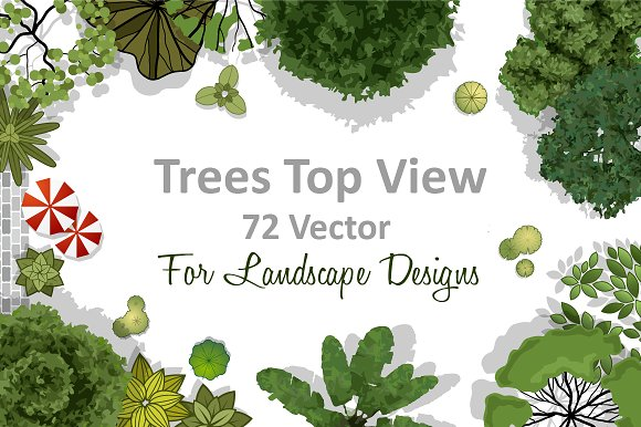 72 Vector Trees Top View