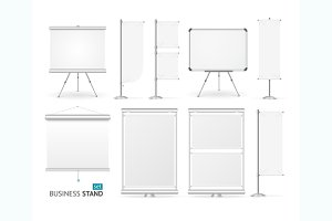 Blank Business Stand Set. Vector