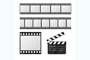 Film Strip Set and Chalkboard