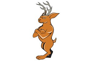 Jackalope Arms Crossed Standing