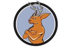 Jackalope Arms Crossed Circle