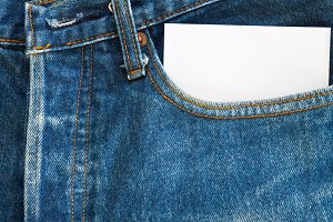 jeans and paper