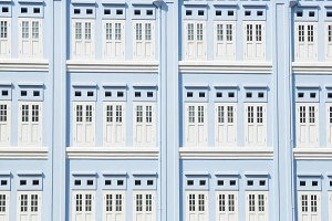 Doors and windows of the blue