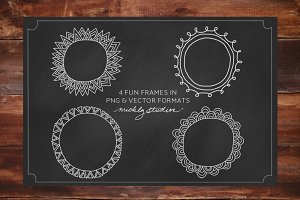 VECTOR & PNG digital clip art frames