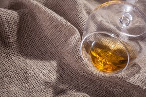 Brandy on sackcloth