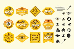 Honey Bee Labels Sticker