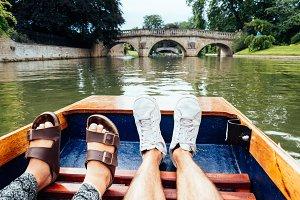 Feet punting in Cambridge