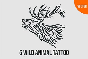 5 Wild Animal Tattoo