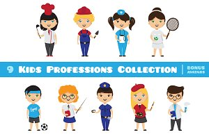 9 Kids Professions Collection
