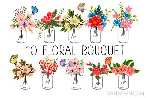 10 floral bouquets №4 New suite 2016