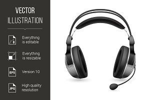 Realistic computer headset with micr