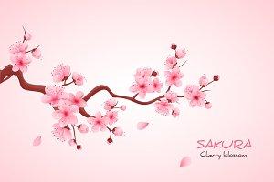 Realistic sakura