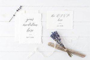 Wedding suite invitation mock up