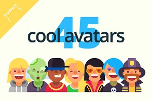 Set of cool avatars