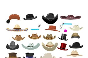 29 vintage hats in different styles