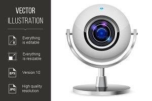 Realistic computer web cam