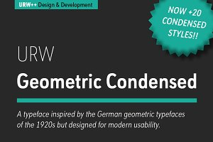 URW Geometric Condensed Extra Light
