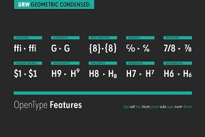 URW Geometric Condensed Semi Bold