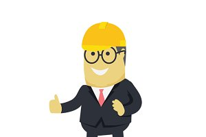 Businesman Show Gesture Thumb Up