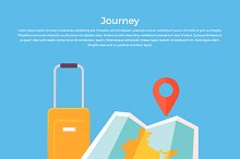 Journey Concept Luggage and Map