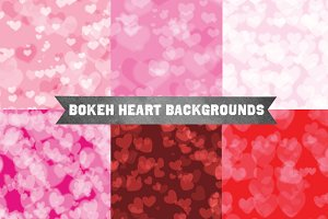 Bokeh Heart Backgrounds