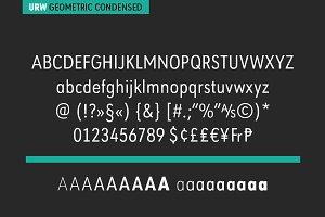 URW Geometric Condensed Bold Oblique