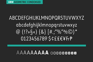 URW Geometric Condensed ExtraBold Ob