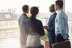 Four diverse multiracial businesspeople