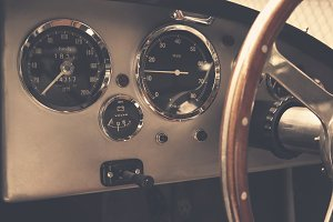 Vintage car dashboard