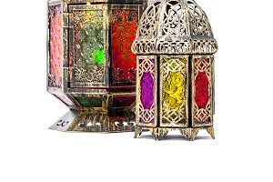 Golden arabic lantern