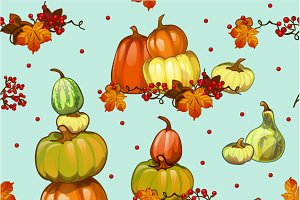 Background - pumpkin, corn, berry