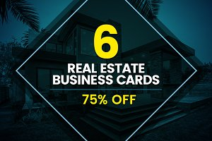 6 Real Estate Business Cards Bundle