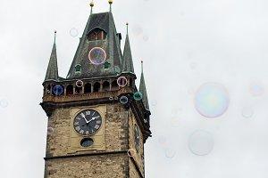 Clock tower on Staromestska square