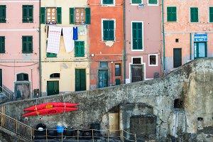 Colorful buildings in Riomaggiore
