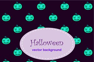 Backgrounds with pumpkin and spiders
