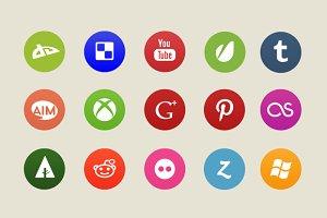 15 Circular Social Icons