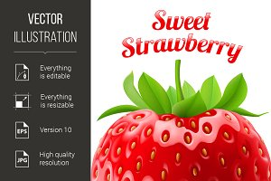 Poster sweet strawberries