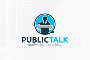 Public Talk Logo Template