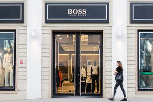 Hugo Boss fashion store