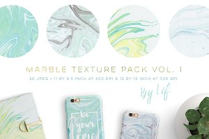 Marble Textures digital paper pack