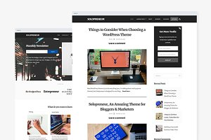 Solopreneur: A Responsive Blog Theme
