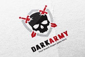 Dark Army Skull Logo
