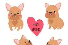 Cute French Bulldog set